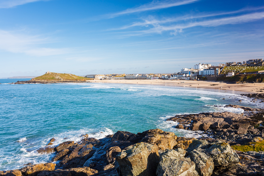 Porthmeor Beach in St Ives